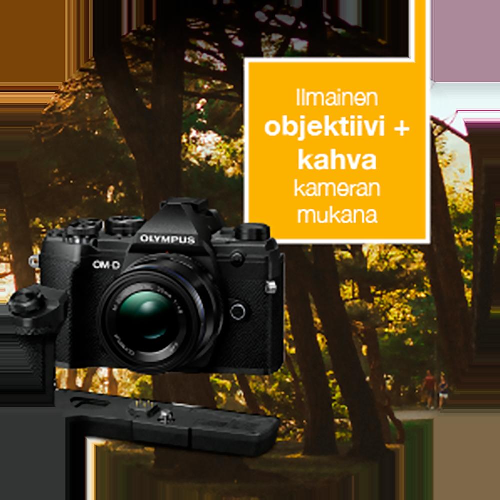 Olympus OM-D E-M5 Mark III + 12-40mm f/2.8 ED Pro -järjestelmäkamera, musta