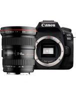 Canon EOS 90D + EF 17-40mm f/4 L USM -järjestelmäkamera