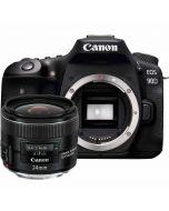 Canon EOS 90D + EF 24mm f/2.8 IS USM -järjestelmäkamera