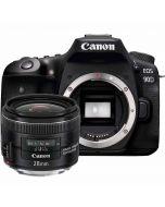 Canon EOS 90D + EF 28mm f/2.8 IS USM -järjestelmäkamera