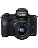 Canon EOS M50 + 15-45mm IS STM -järjestelmäkamera, musta