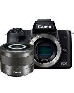 Canon EOS M50 + EF-M 28mm f/3.5 IS STM Macro -järjestelmäkamera, musta