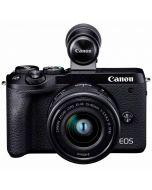 Canon EOS M6 Mark II + 15-45mm f/3.5-6.3 IS STM -järjestelmäkamera, musta