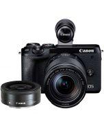 Canon EOS M6 Mark II + 18-150mm IS STM + 22/2 STM -järjestelmäkamera