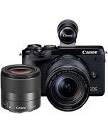 Canon EOS M6 Mark II + 18-150mm IS STM + 32/1.4 STM -järjestelmäkamera