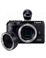 Canon EOS M6 Mark II -järjestelmäkamera + EVF-DC2 + EF - EOS M adapteri
