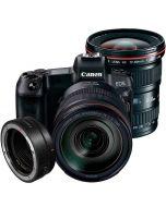 Canon EOS R + EF - EOS R + RF 24-105mm f/4 L IS USM + EF 17-40mm f/4 L USM -järjestelmäkamera