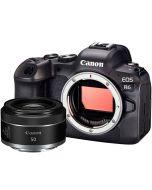 Canon EOS R6 + RF 50mm f/1.8 STM -järjestelmäkamera