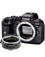 Canon EOS R6 + Viltrox EF - EOS R -adapteri