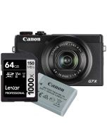 Canon PowerShot G7 X Mark III, musta + NB-13L + Lexar Pro 1000X 64GB SDXC