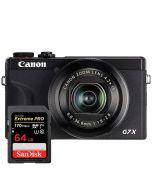 Canon PowerShot G7 X Mark III, musta + SanDisk Extreme Pro SDXC V30 64GB 170MB/s