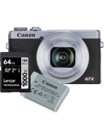 Canon Powershot G7 x Mark III, hopea + NB-13L + Lexar Pro 1000X 64GB SDXC