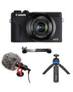 Canon PowerShot G7 X Mark III Video Kit, musta