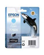 Epson T7605 Light Cyan -mustekasetti (SC-P600)