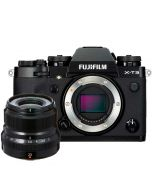Fujifilm X-T3 + XF 23mm f/2 R WR -järjestelmäkamera, musta