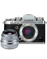 Fujifilm X-T3 + XF 35mm f/2 R WR -järjestelmäkamera, hopea