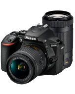 Nikon D5600 + AF-P 18-55mm VR + AF-P 70-300mm VR -järjestelmäkamera, musta