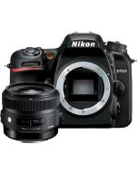 Nikon D7500 + Sigma 30mm f/1.4 A DC HSM -järjestelmäkamera