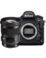 Nikon D850 + Sigma 50mm f/1.4 Art DG HSM -järjestelmäkamera