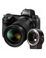 Nikon Z7 + Z 24-70mm f/4 S + FTZ Adapter -järjestelmäkamera