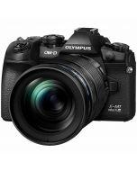 Olympus OM-D E-M1 Mark III + 12-100mm f/4 ED IS Pro -järjestelmäkamera, musta