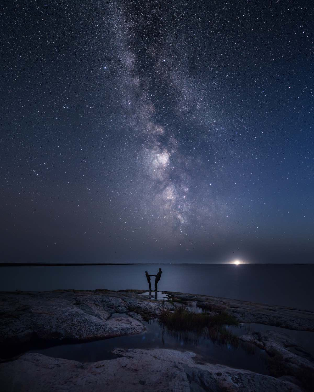 Tähti- ja Linnunrata valokuvaus - Canon EOS 5D Mark III, Valotusaika: 180, ISO-herkkyys: 1 600, Aukkoluku: 2,8