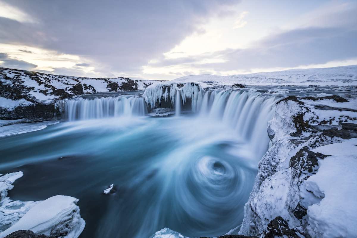 Jäinen vesiputois, Islanti - Camera: Nikon D850, lens (mm): 14, ISO: 64, Aperture: 11, Shutter: 15, Other: Lee Big stopper ND10 + tripod