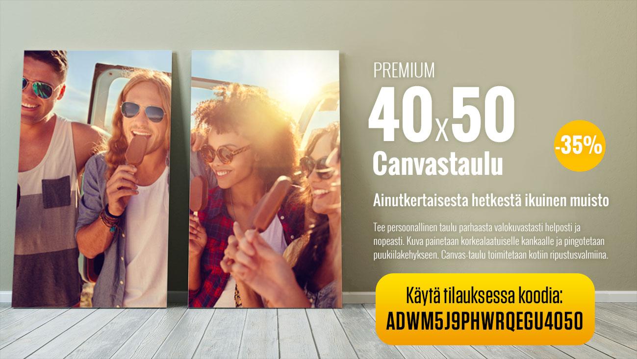 Premium 40x50 canvastaulu -35%
